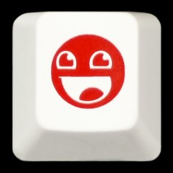 KeyPop Limited Edition Red Awesome Face Keycap